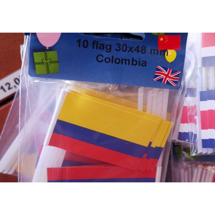 Columbia kageflag i papir (30x48 mm)-30