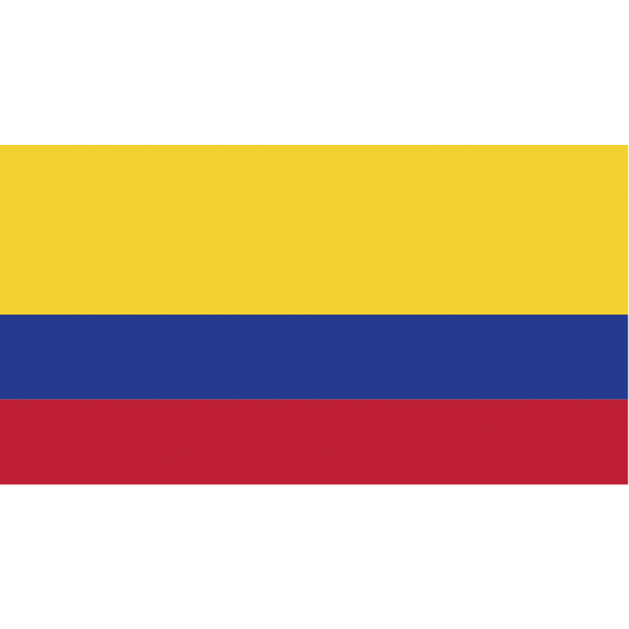 Colombia kageflag i papir (30x48 mm)-3190