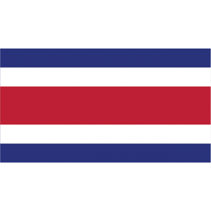 Costa Rica vifteflag i papir (20x27 cm)-30