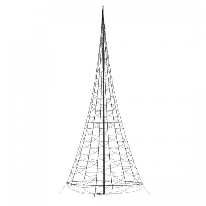 Lyskæde til 12 mtr. flagstang m/ 4000 LED lys-312