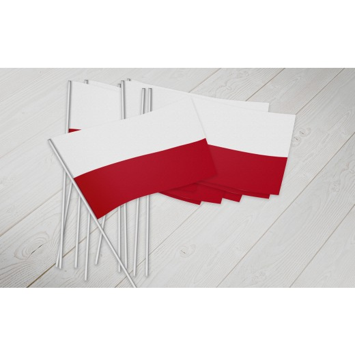 Polen vifte flag papir