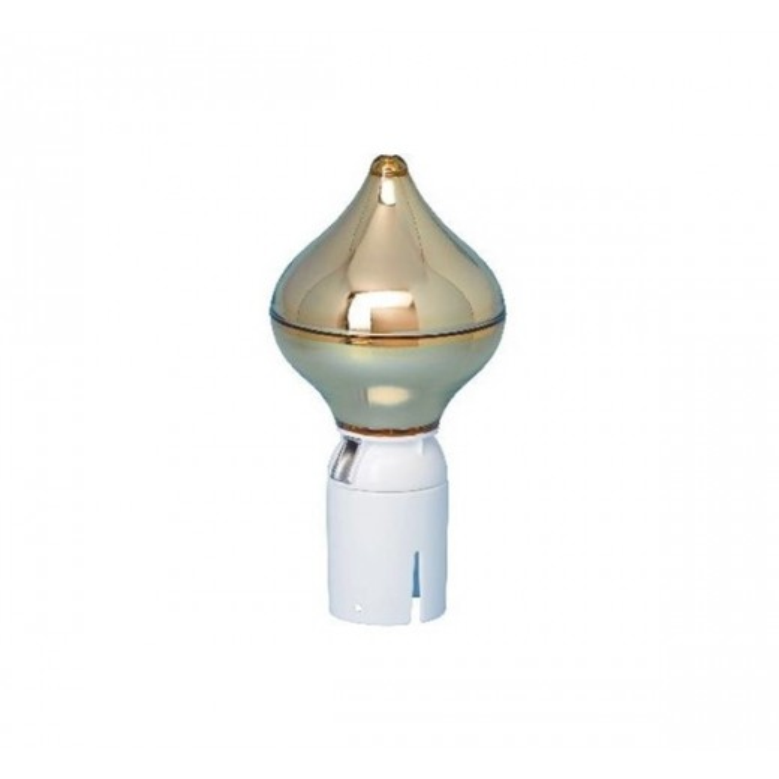 RIX Løgformet guld flagknop
