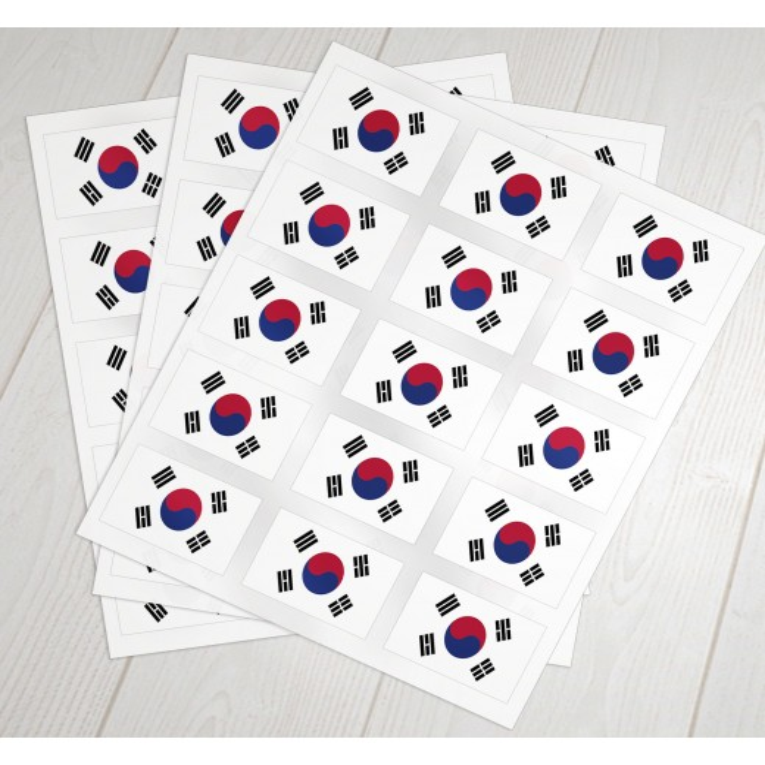 Sydkorea oblat klæbeflag