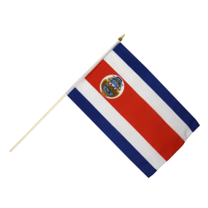 Costa Rica vifteflag i stof (30x45 cm)-20