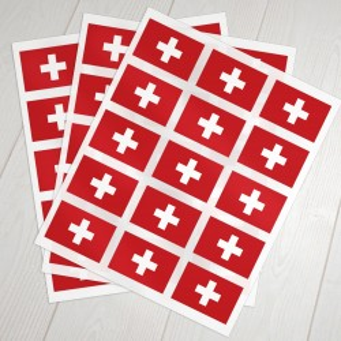 schweizisk klæbeflag