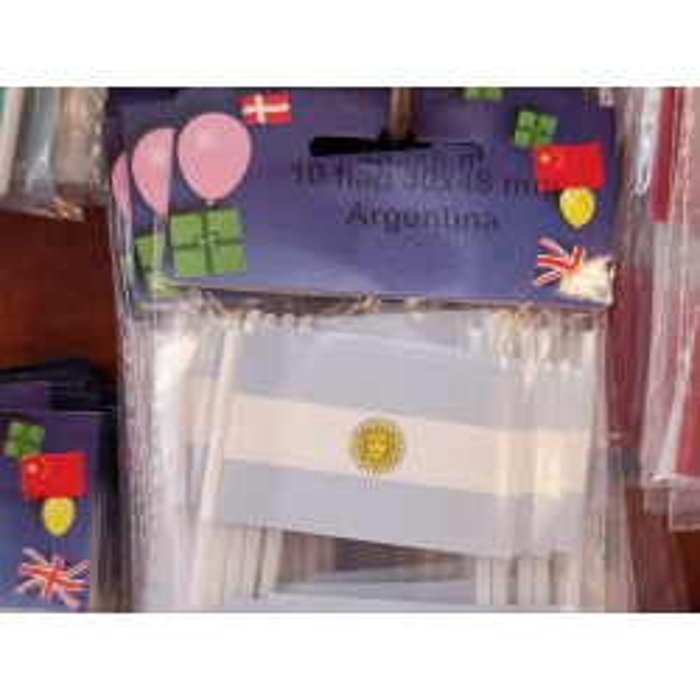 Argentina kageflag i papir (30x48 mm)