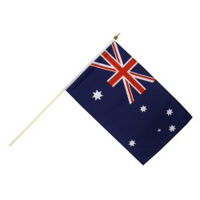 Australien vifteflag i stof (30x45 cm)