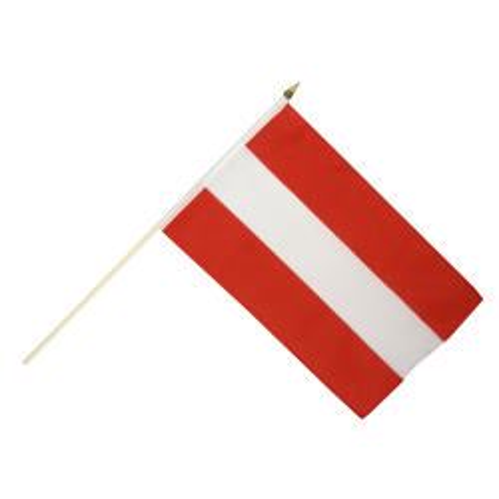 Østrig vifteflag i stof (30x45 cm)
