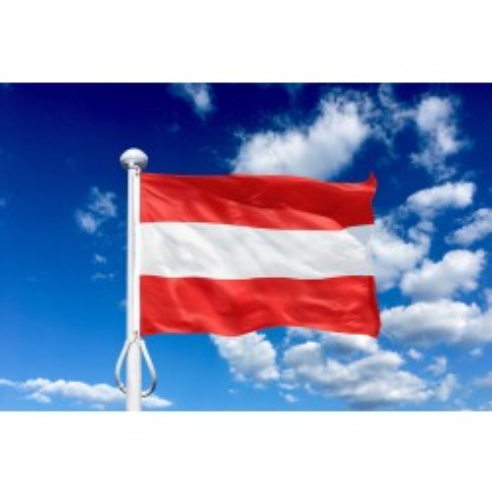 Østrig 225 cm, 8-9 mtr. flagstang