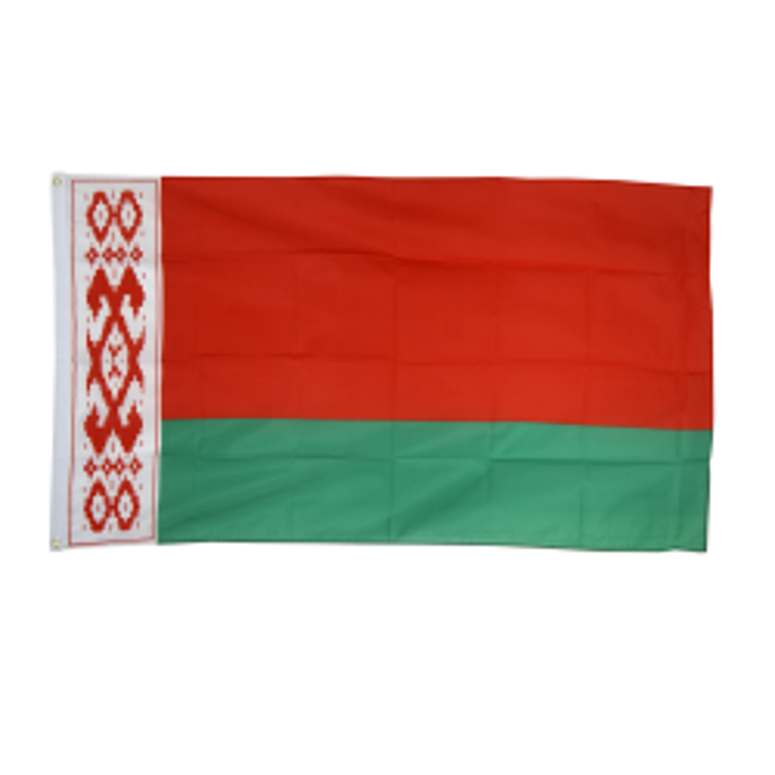 Hviderusland flag i stof (90x150 cm)