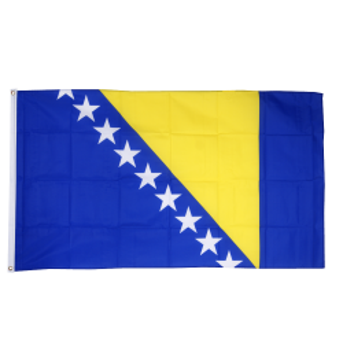 Bosnien flag i stof (90x150 cm)