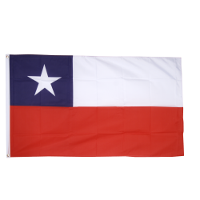 Chile flag i stof (90x150 cm)
