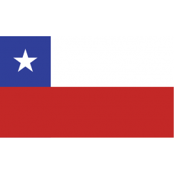 Chile kageflag i papir (30x48 mm)