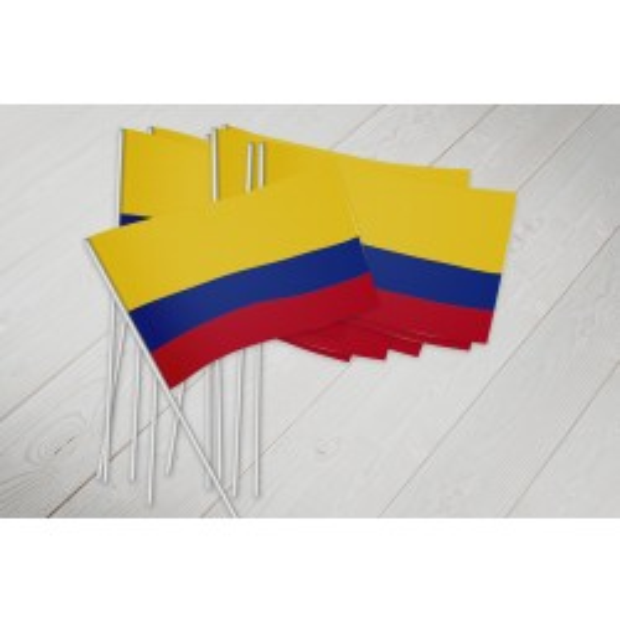 Colombia vifteflag i papir (20x27 cm)