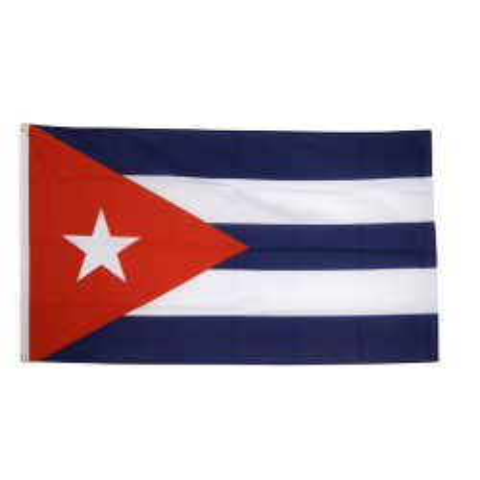 Cuba flag i stof (90x150 cm)