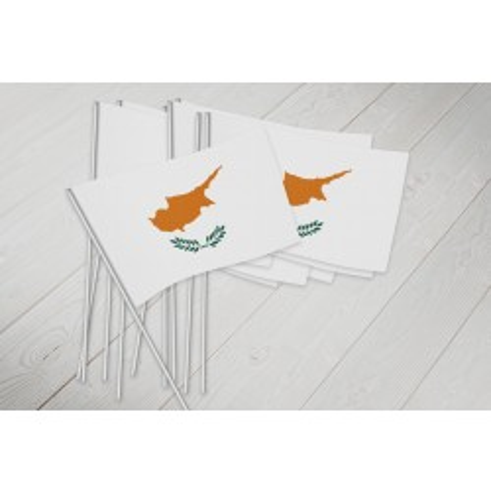 Cypern vifteflag i papir (20x27 cm)