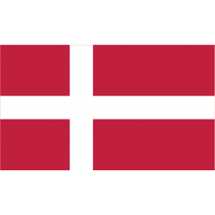 Danmark guirlande i papir (10x13 cm)