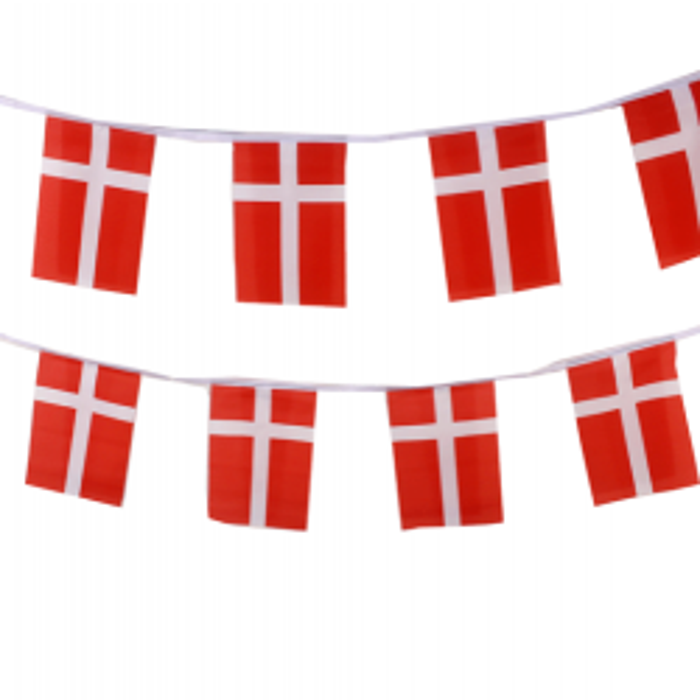 Danmark flagranke i stof (27x35 cm)
