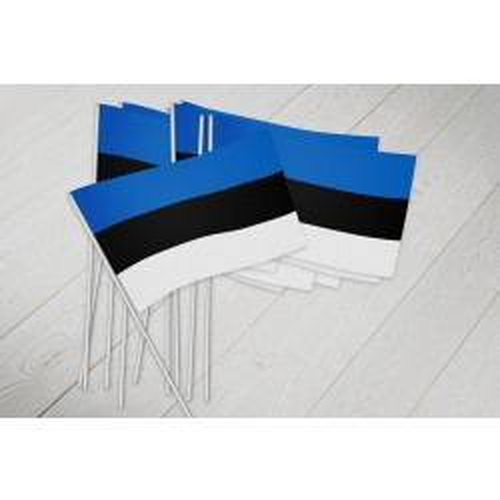 Estland vifteflag i papir (20x27 cm)