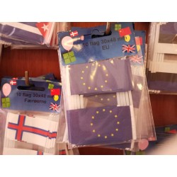 EU kageflag i papir (30x48 mm)