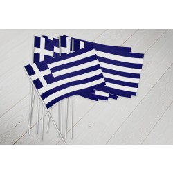 Grækenland vifteflag i papir (20x27 cm)