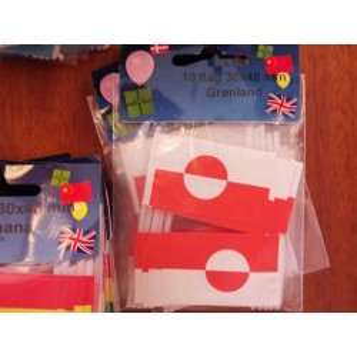 Grønland kageflag i papir (30x48 mm)