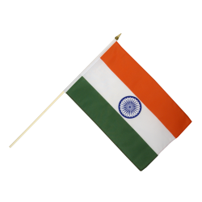 Indien vifteflag i stof (30x45 cm)