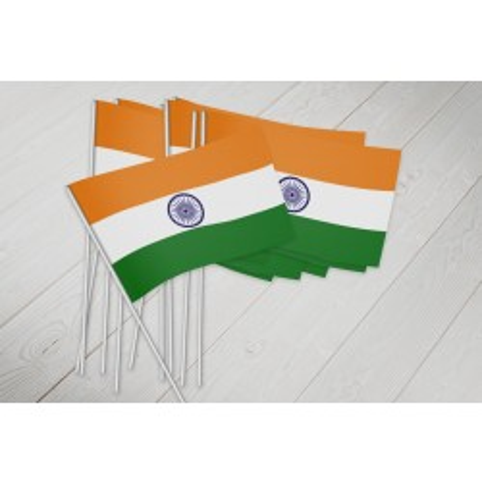 Indien vifteflag i papir (20x27 cm)