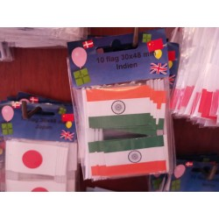 Indien kageflag i papir (30x48 mm)
