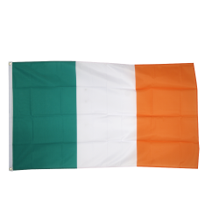 Irland flag i stof (90x150 cm)
