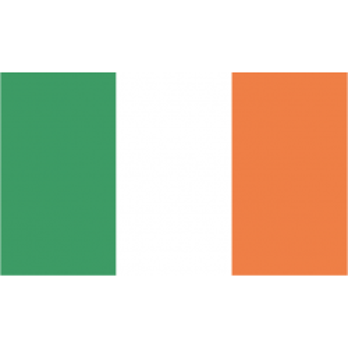 Irland vifteflag i papir (20x27 cm)