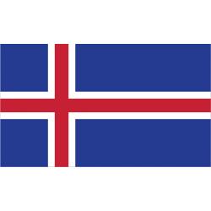 Island guirlande i papir (20x27 cm)