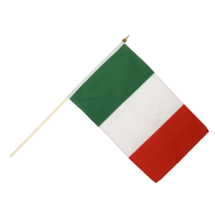 Italien vifteflag i stof (30x45 cm)
