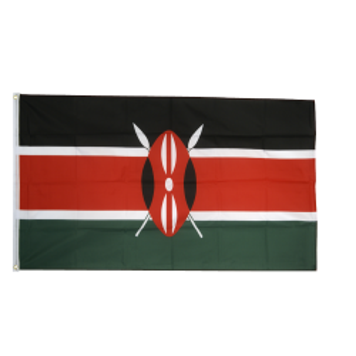 Kenya flag i stof (90x150 cm)
