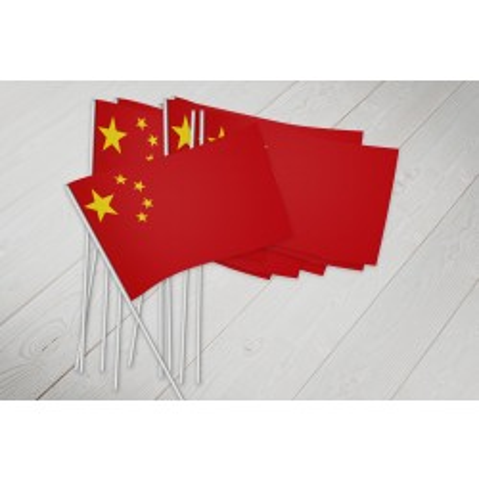 Kina vifteflag i papir (20x27 cm)