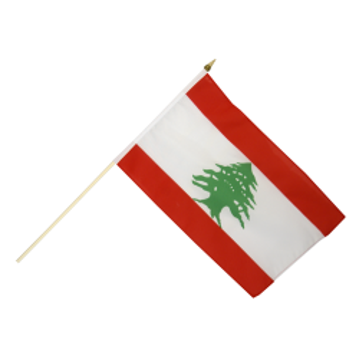 Libanon vifteflag i stof (30x45 cm)