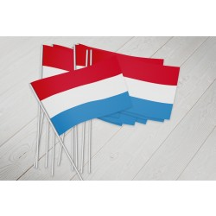 Luxembourg vifteflag i papir (20x27 cm)