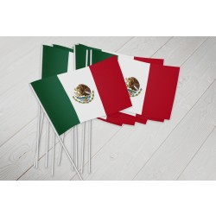Mexico vifteflag i papir (20x27 cm)