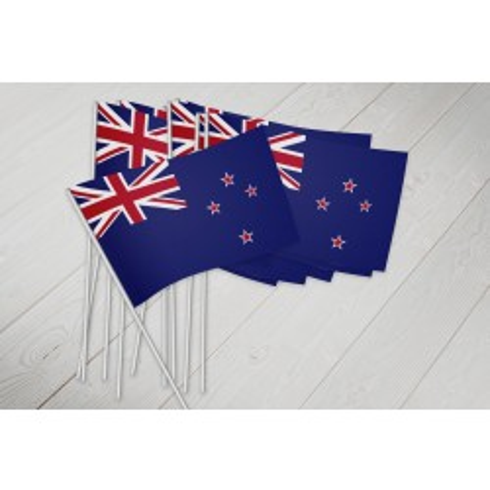 New Zealand vifteflag i papir (20x27 cm)