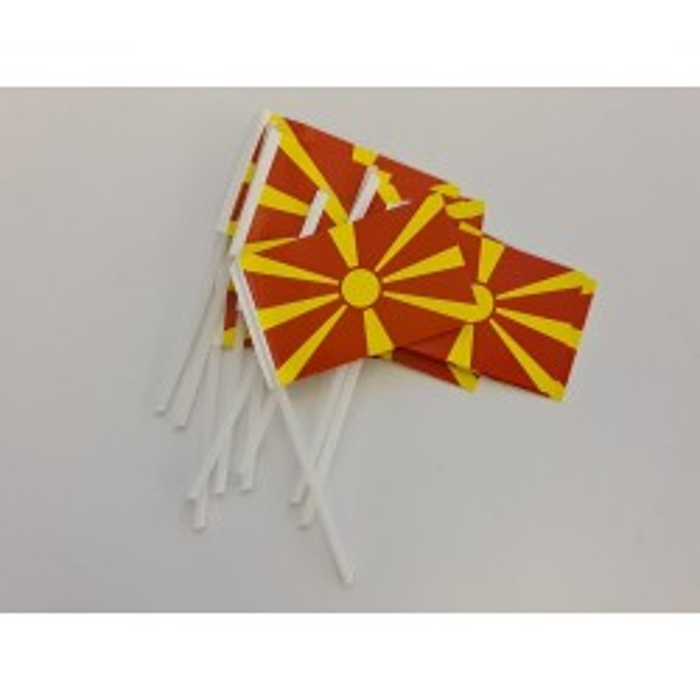 Nordmakedonien kageflag i papir (30x48 mm)