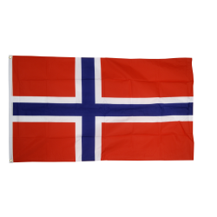 Norge flag i stof (90x150 cm)