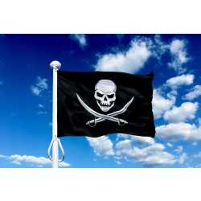 Sørøver flag 150 cm, 5-6 mtr. flagstang