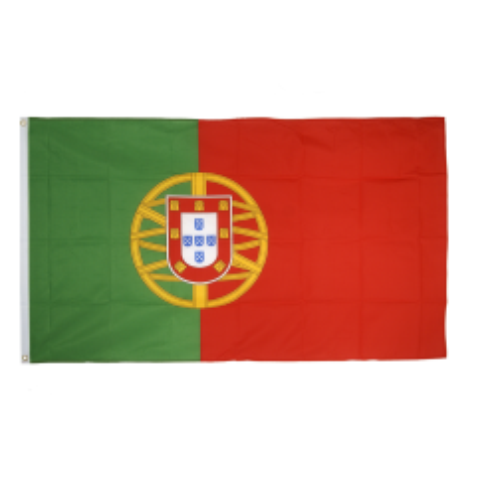 Portugal flag i stof (90x150 cm)