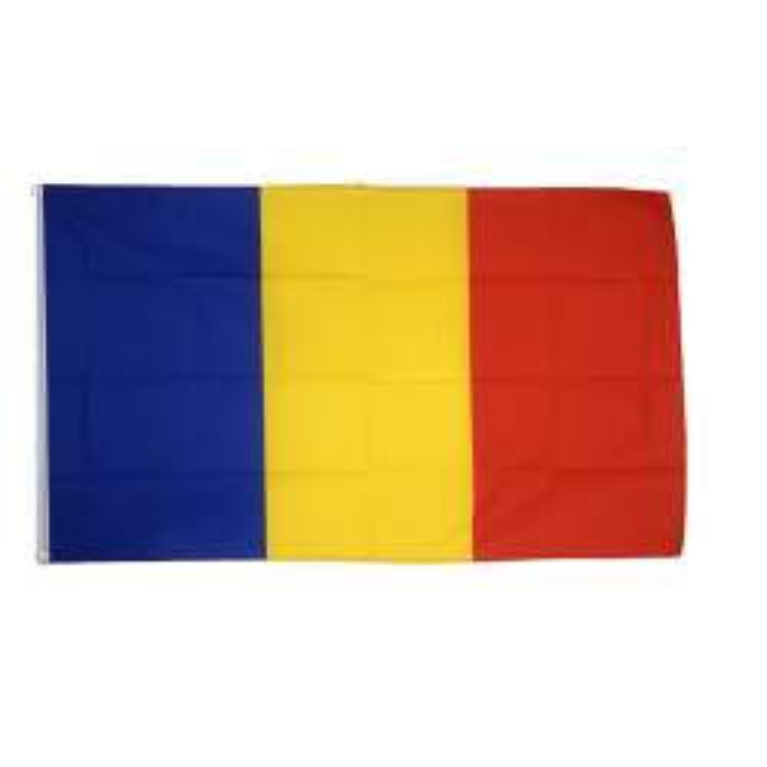 Rumænien flag i stof (90x150 cm)