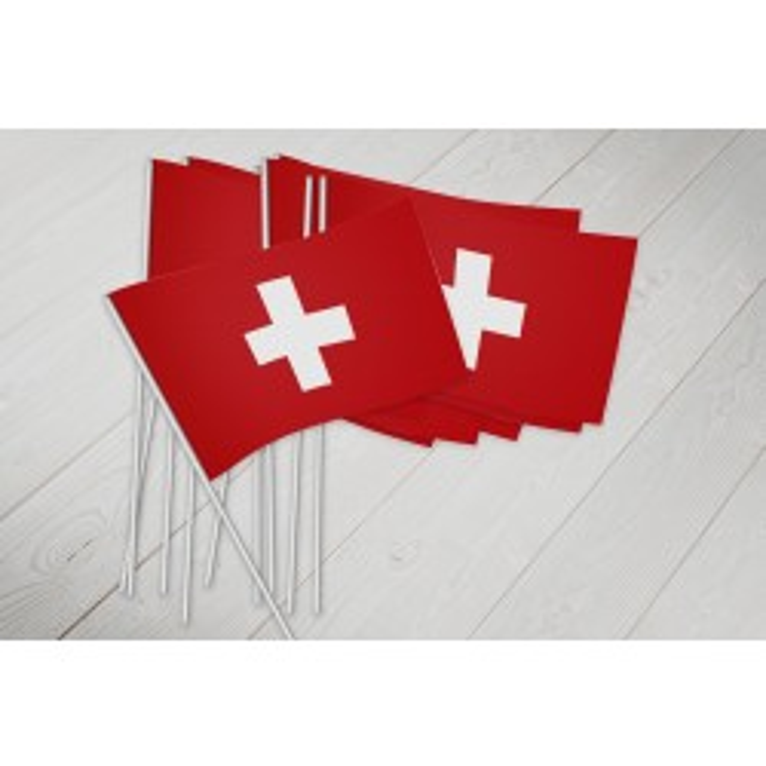 Schweiz vifteflag i papir (20x27 cm)