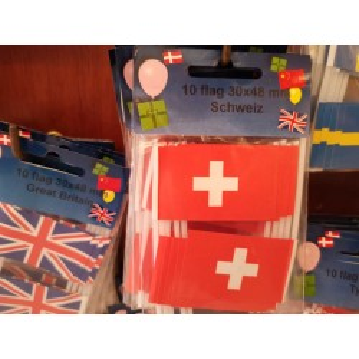 Schweiz kageflag i papir (30x48 mm)