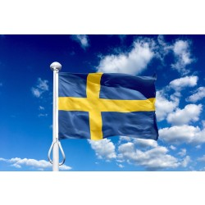 Sverige 75 cm, 2,5-3 mtr. flagstang