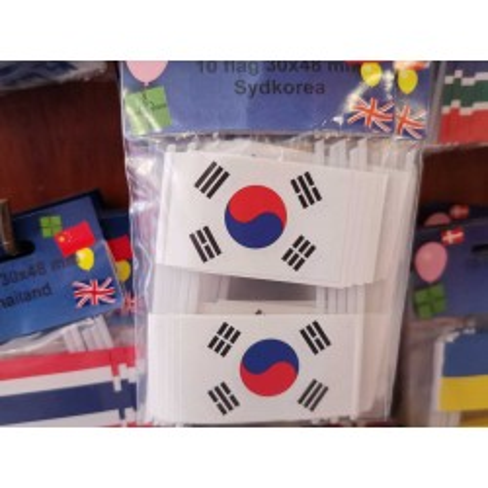 Sydkorea kageflag i papir (30x48 mm)