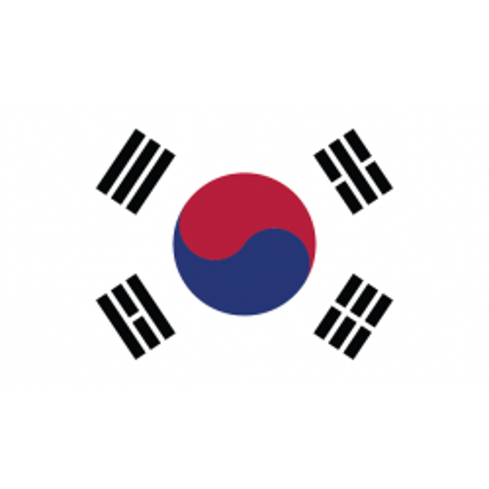 Sydkorea guirlande i papir (20x27 cm)