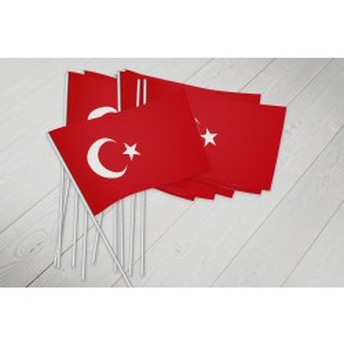 Tyrkiet vifteflag i papir (20x27 cm)
